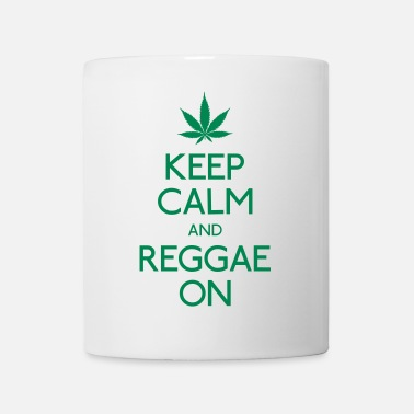 Reggae Keep Calm and reggae on mantener la calma y el reggae en - Taza