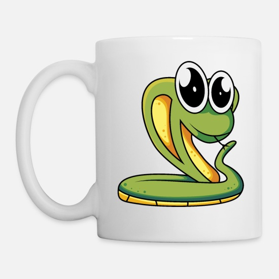 Basket Mugs & Drinkware - Snake - Mug white