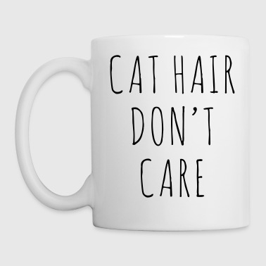 Cat Hair Funny Quote - Kubek