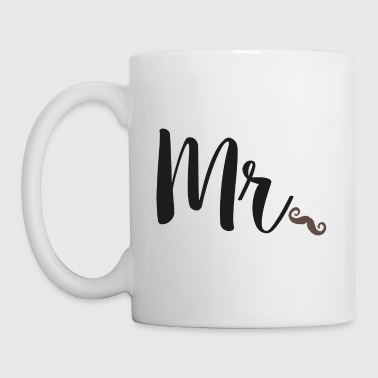 Newlyweds Mr Moustache For Husbands - Mug
