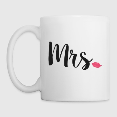 Newlyweds Mrs Lips Typography Wife - Mug