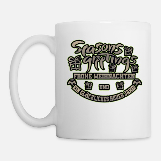 Love Mugs & Drinkware - Seasons Greetings - Merry Christmas. - Mug white