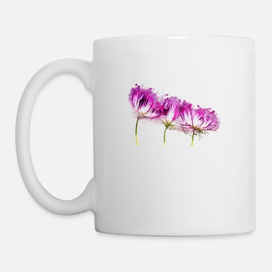 Art Mugs & Drinkware - Flowers garden plant brightly glowing - Mug white