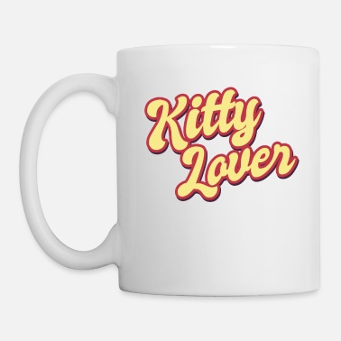 Cuore Kitty Lover Cat Lover Cat Cat Meow - Mug blanc