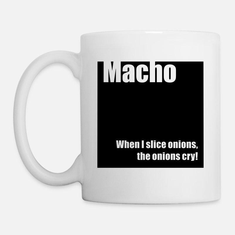 Gym Mugs & Drinkware - Macho - Mug white