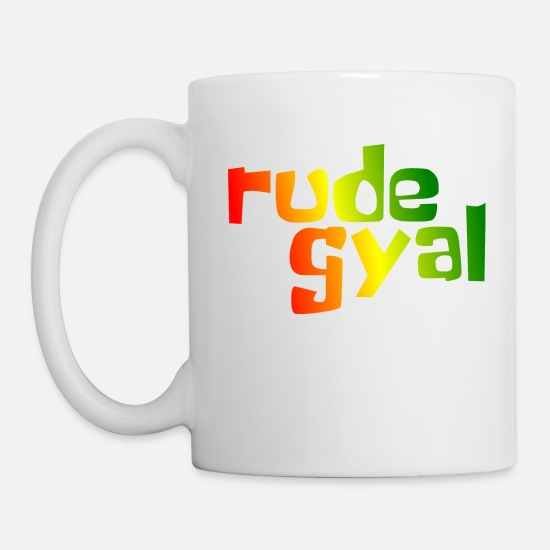 Rude Mugs & Drinkware - Rude Gyal - Mug white
