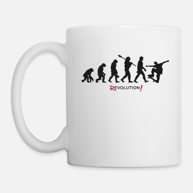 Evolution Revolution Skateboard cool - Tasse