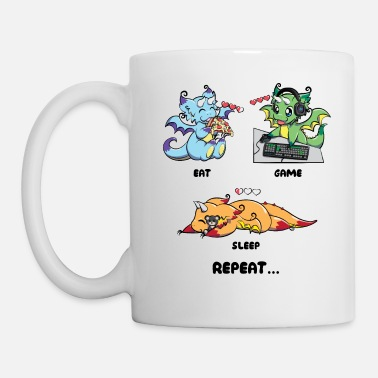 Eat Game Sleep Repeat - Juegos Dragon Geek Life - Taza