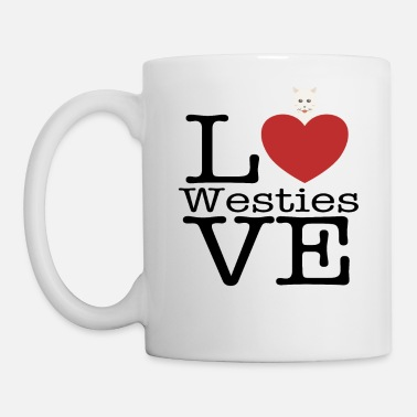 Best Love Cute Westies - Mug