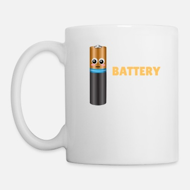Puns My Social Battery Is Dead Funny Battery Pun - Mug