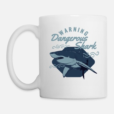 Los Angeles Attention requin dangereux - Mug