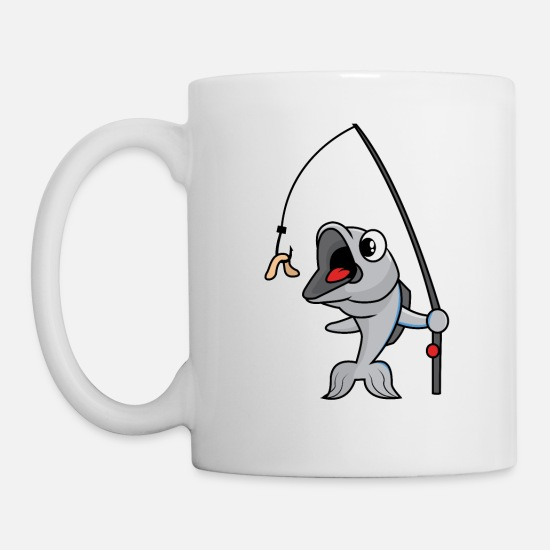 Gift Idea Mugs & Drinkware - Angel fish and bait - Mug white