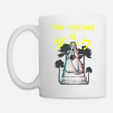 Emotions The Future is Dark. Aesthetic Vaporwave gothic - Mug