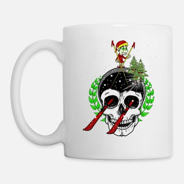 Troll Winter Sports Ski Freak Fantasy Pistensau Downhill - Mug