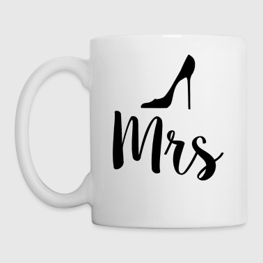Newlyweds Mrs High Heels Typography Wife - Mug