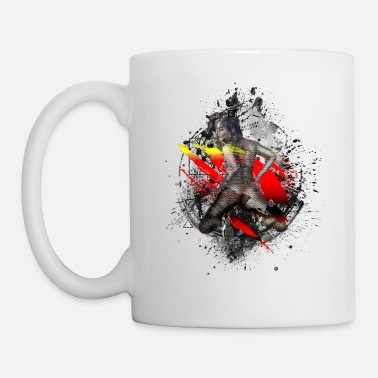 Paint Splatter Erotic sexy woman modern art - Mug