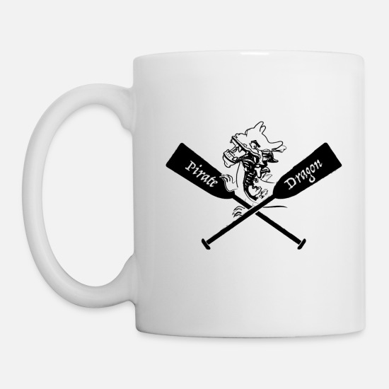 Dragon Mugs & Drinkware - Pirate Dragon boat - Mug white