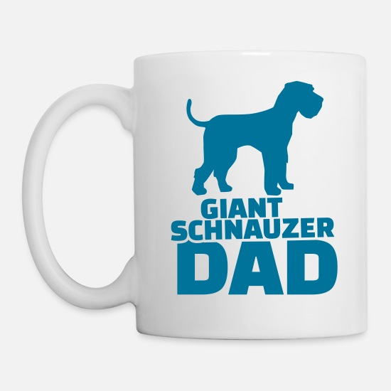 Animal Mugs & Drinkware - Giant Schnauzer Dad - Mug white