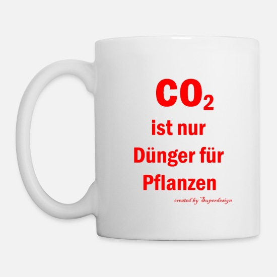 Carbon Dioxide Mugs & Drinkware - CO2 - Mug white