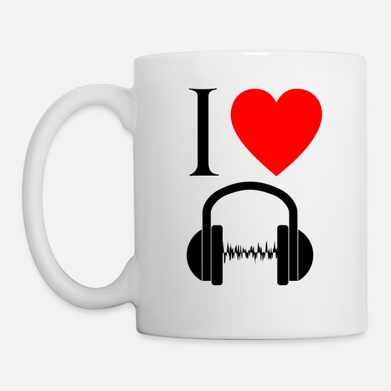 Rap Tassen & Becher - I love music! - Tasse Weiß
