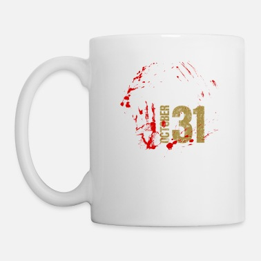 Splatter Halloween zombie blood splatter gift - Mug