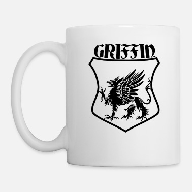 Shield Griffin Name Shield Mythical Eagle Lion - Mug blanc