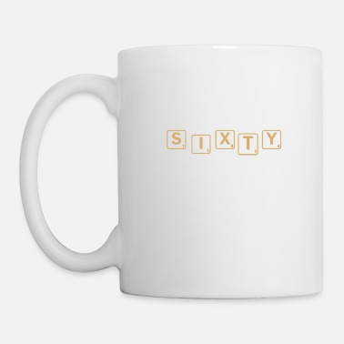 Decoration Sixty in scrabble 60th birthday gift - Mug