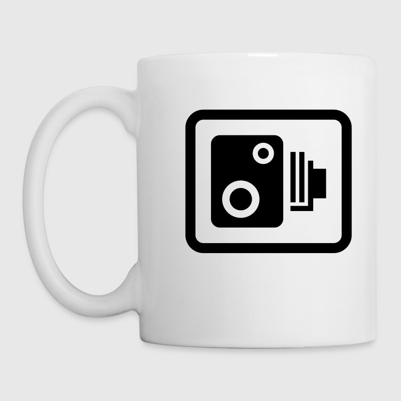 speed camera road sign - Mug