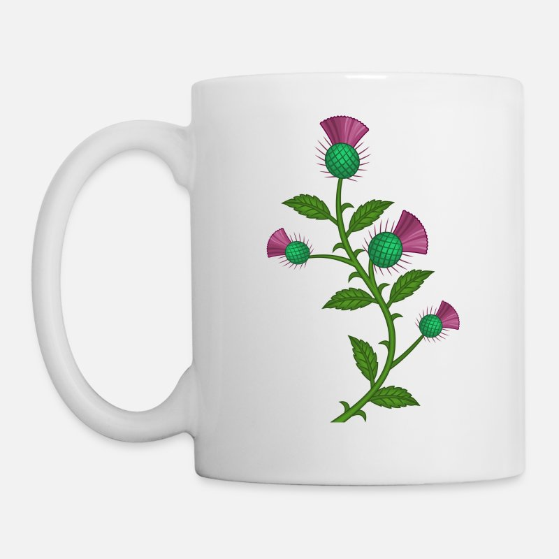 Scotland Mugs & Drinkware - scotland thistle flower - Mug white