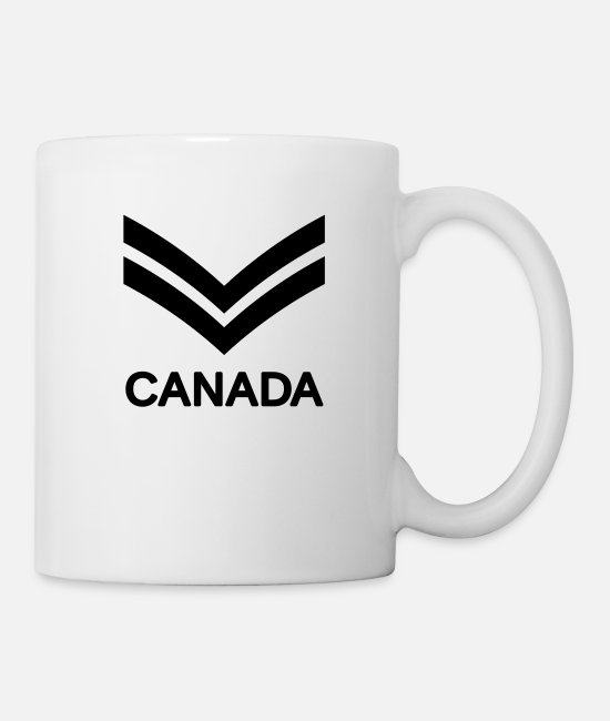 Canadian Armed Forces Mugs & Drinkware - Corporal CANADA Army, Mision Militar ™ - Mug white