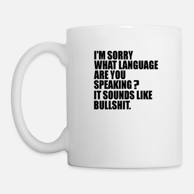 Langue Langage quelle langue - Mug