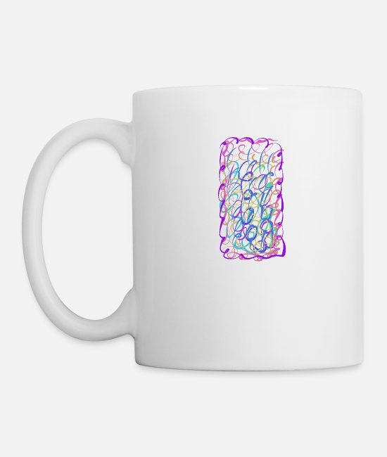 Pattern Mugs & Drinkware - template - Mug white