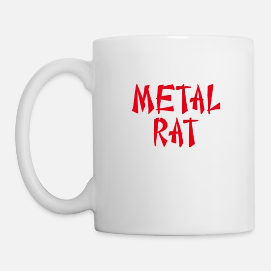 Rat Mugs & Drinkware - METAL COUNCIL - Mug white