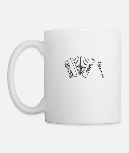 Style Of Music Mugs & Drinkware - One Line Accordion - Mug white