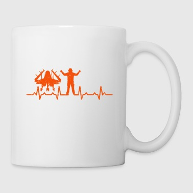 Air Traffic Controller Heartbeat t shirt - Occupation gift - Mug