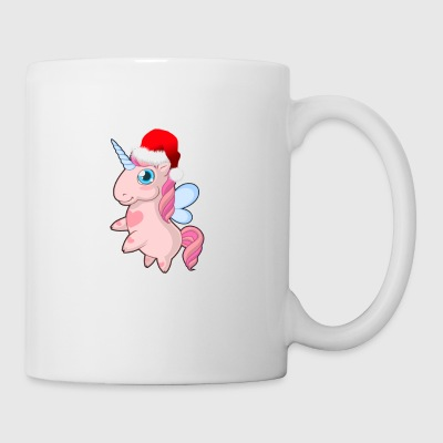Cute Unicorn With Santa Hat Merry Christmas - Mug