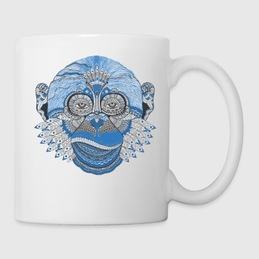Monkey Indian feathers - Mug