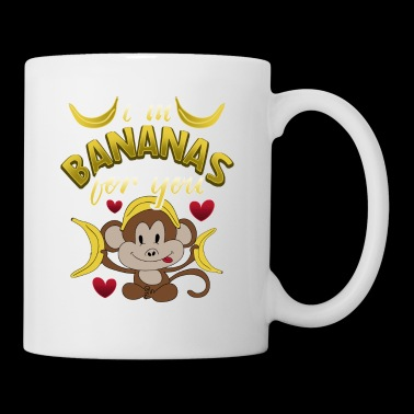 Bananas Monkey Valentine's Day Gift Love Couples - Mug