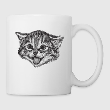 Cat Drawing - Mug