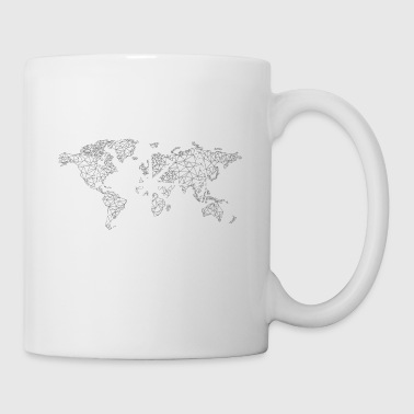 World Map - Compass - Mug