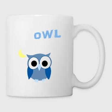 Up Owl Night Owl Mond nächtliche Bird Lover Funny - Tasse