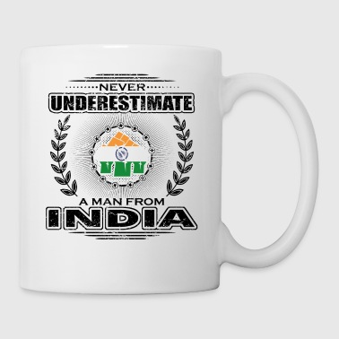 Never Underestimate Man Roots INDIA png - Mug