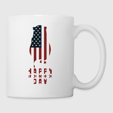 Glückliche Groundhog Day USA-Flaggen-Feier-Tradition - Tasse