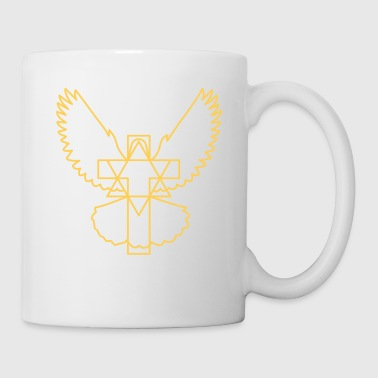 Cross dove star modern without beak - Mug
