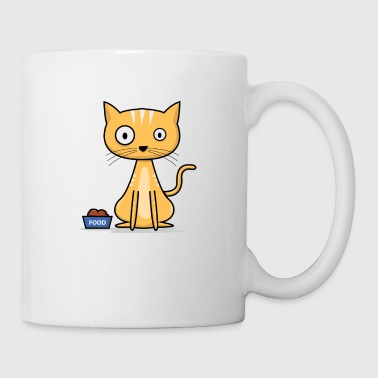 chat affamé! Kitty idée cadeau. - Tasse