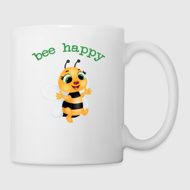 flotte biene, be happy - Tasse