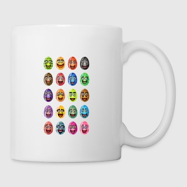 Happy Easter with happy eggs - Mug