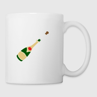 Party Poppers Champagner Flasche - Tasse