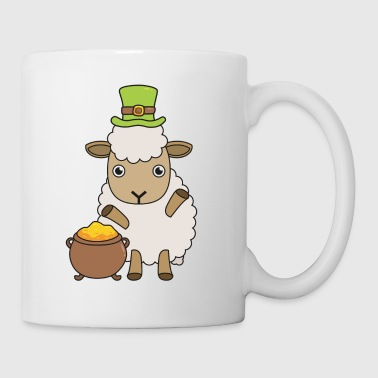 Cartoon St Patrick's Day Sheep Ik hou van Ierland - Mok