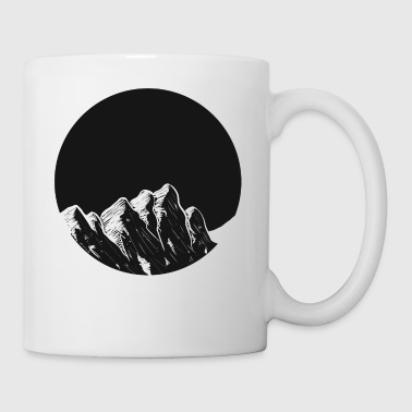 Mountains Mountains Moon hiking snow - Mug